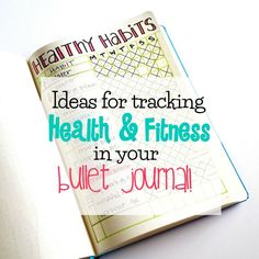 Lots of ideas for tracking workouts, strength training, running, meal planning, and more in your bullet journal!