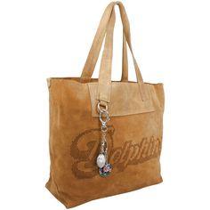 Anastasio Moda Miami Dolphins Historic Logo Women's Kate Shopping Tote - Tan - $396.14