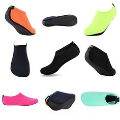 SHOESKISS Barefoot Water Skin Shoes for Women Men's Kids Aqua Socks Surf Pool Yoga Beach Swim Exercise ** Visit the image link more details. Surf Pool, Aqua Socks, Cheap Shoes Online, Workout Shoes, Silver Shoes, Water Shoes, Zipper Bags, Shoe Collection, Barefoot