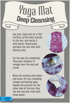 Restore a Zen cleanliness to your dinghy yoga mat.  #SaveMoney #DIYHome #HouseholdTips #CleanYogaMat
