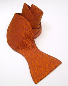 Burnt Orange Silk Bow Tie   $55.00, via Etsy.