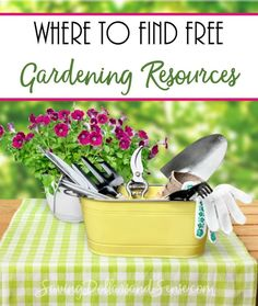 Where to find free DIY Gardening Resources, and activities.