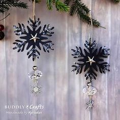 Make Wooden Snowflake Ornaments & Gift Tin | Buddly Crafts