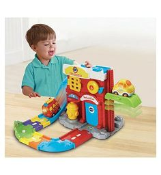 Vtech Toot Toot Drivers Fire Station 10169926 100 Advantage card points. Emergency, emergency, ring the fire alarm and send the fire engine to the rescue! The Toot-Toot Drivers Fire Station set from VTech provides hours of fun for your little one http://www.MightGet.com/april-2017-1/vtech-toot-toot-drivers-fire-station-10169926.asp