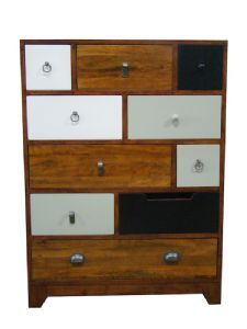 Buy Signature North Retro 10 Drawer Tall Chest of Drawers from - the UK's leading online furniture and bed store Vintage Bedroom Furniture, Timber Furniture, Diy Furniture, Furniture Storage, Wood Dresser, Dresser Drawers, Chest Of Drawers, Dresser Storage, Dressers