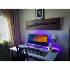 """720 Likes, 2 Comments - Mal - PC Builds and Setups (@pcgaminghub) on Instagram: """"An awesome setup! I love the mounting for that rifle, it's really cool By: u/Wicing. Check out…"""""""