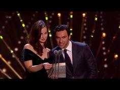 Aidan Turner and Heida Reed presenting the Award for Best Drama at the NTA's