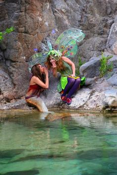 """""""Twig"""" The Fairy and a mermaid!!  http://www.twigthefairy.com/"""
