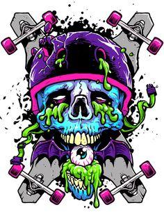 Graffiti Art, Graffiti Drawing, Art Drawings, Desenho Tom E Jerry, Vexx Art, Dessin Old School, Arte Zombie, Skate Art, Art Sketchbook