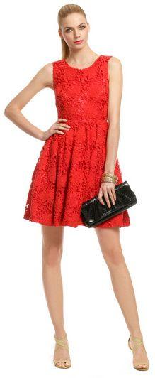 kate spade new york red Tiebreaker Dress - red cocktail dress
