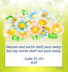 Luke 21:33 KJV ✝