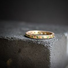 Earthy luxury: rose gold and green diamonds. #etsyjewelry
