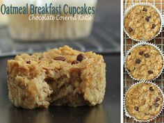 Oatmeal breakfast cupcakes from Chocolate Covered Katie- A healthy way to start your day!