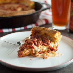 Chicago-Style Deep-Dish - perfect buttery, flakey, soft crust with crisp exterior.