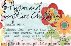 Announcing {Hymn & Scripture Challenge} for 2012 #scrapbooking #year #challenge