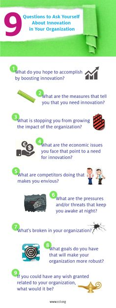 9 questions to help you understand the need for innovation in your organization #infographic