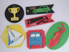 Father's day key-rings. you can buy these from my etsy shop