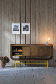 Wooden #sideboard with sliding doors VAYK Rewind Collection by Kann Design | #design Meghedi Simonian #wood @kanndesign