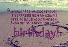 birthday quotes for son - Google Search