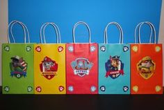 Paw Patrol Gifts, Paw Patrol Party Favors, Paw Patrol Invitations, Paw Patrol Cake, Paw Patrol Birthday Decorations, Paw Patrol Cupcakes, Party Favor Bags, Goody Bags, Treat Bags