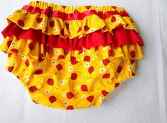 Girls Lady bug ruffle diaper cover by AnnesUniqueBoutique on Etsy, $12.00