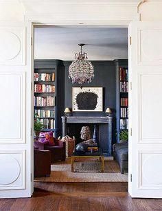 Aerin-Lauder's NYC apartment // library design