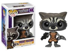 Amazon.com: Funko POP Marvel: Guardians of The Galaxy - Rocket Raccoon Vinyl Figure: Toys & Games