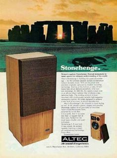Altec calling Art Bell, your paranormal experience is waiting! It was trendy for American companies to associate their products with exotic and mysterious locales or historic spots around the world. Anyone also remember the Klipsch La Scala (named after a famous Italian theatre)?