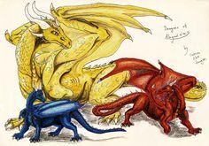 Saphira, Thorn and Glaedr