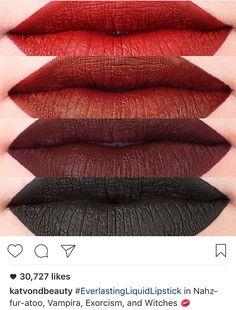 Kat Von D - Everlasting Liquid Lipstick in nosferatu, vampira, exorcism and witches.