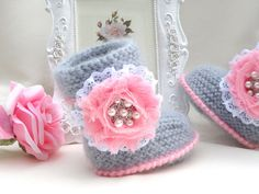 Baby Shoes Baby Girl Booties Baby Clothes Children door Solnishko42