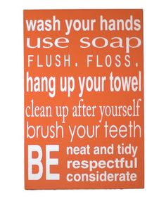 I NEED this for my bathroom....or better yet, the boy needs to read this in the bathroom!
