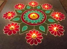Kolam rangoli designs are made in South India. They are pretty, intricate patterns made duing festivals. Make kolam rangoli designs for Ugadi and Pongal. Easy Rangoli Designs Diwali, Indian Rangoli Designs, Rangoli Simple, Simple Rangoli Designs Images, Rangoli Designs Latest, Free Hand Rangoli Design, Rangoli Designs Flower, Rangoli Border Designs, Colorful Rangoli Designs