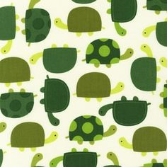 Turtle motif fabric by Ann Kelle: Urban Zoologie Part 2 - Turtles in Grass