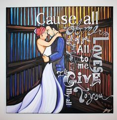 wedding day paintings — alittleguilty.com