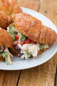 The great thing about chicken salad is that you can have it anytime. You don't have to wait for summer to try this yummy chicken salad recipe! ohsweetbasil.com