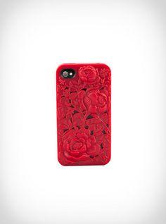 Kırmızı Güllü Hard Plastic Case Hipsin | Angela
