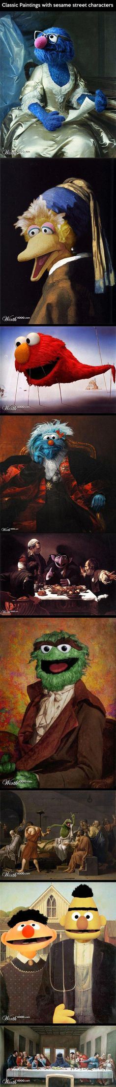 Sesame Street Classic Paintings                                                                                                                                                                                 More