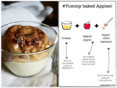 #apples#caramel#cream#recipe Fast recipe for a yummy meal. adaywithv.blogspot.com