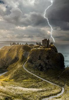 We love the look of Dunnottar Castle here - the stormy weather just adds to the…
