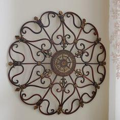 Round Wrought Iron Wall DECOR Scroll Fleur De Lis Antique Vintage Decor | Home & Garden, Home Décor, Wall Sculptures | eBay!