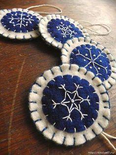 Snowflake felt ornaments