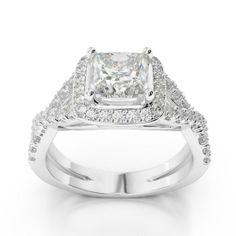 Engagement Ring Halo Twist 18
