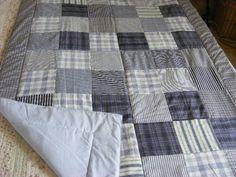 Kék patchwork takaró apró kockákból fiúknak, Otthon, lakberendezés, Lakástextil, Takaró, ágytakaró, Varrás, Patchwork, foltvarrás, Meska