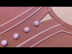 Churidhar Neck Designs, Neckline Designs, Neck Designs For Suits, Sleeves Designs For Dresses, Collar Designs, Blouse Neck Designs, Hand Designs, Sleeve Designs, Salwar Neck Patterns