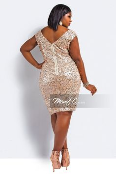 Plus Size Sequin Dress - Monif C Plus Size Clothing | Plus Size ...