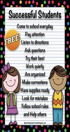 FREE Successful students poster is part of Student posters - Character traits of successful students free poster Classroom Rules Poster, Classroom Charts, Classroom Quotes, Classroom Bulletin Boards, Classroom Displays, Classroom Organization, Cute Classroom Decorations, Classroom Expectations, Classroom Behavior