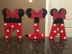 Minnie Mouse Custom Name Letters price is per letter Baby Girl Birthday Theme, Minnie Mouse First Birthday, Minnie Mouse Christmas, Minnie Mouse Theme, 3rd Birthday Parties, Princess Birthday, Birthday Cakes, Minie Mouse Party, Mickey Party