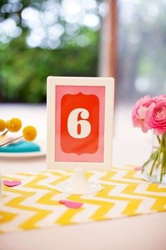 REVEL: Colorful Table Numbers