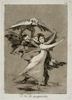 You will not escape (No te escaparas); Francisco de Goya